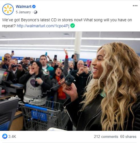 Wallmart Facebook Post Screenshot