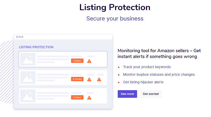 Sellzone Listing Protection Feature