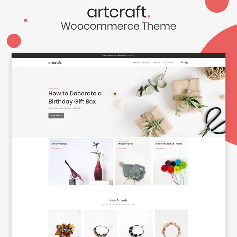 Artcraft WooCommerce Theme