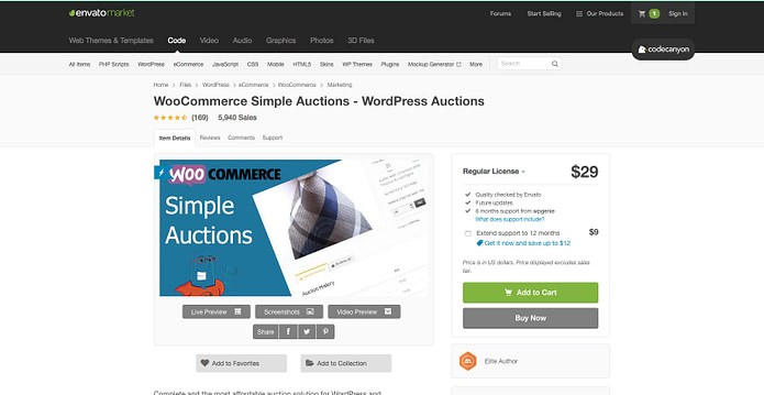WooCommerce Simple Auctions