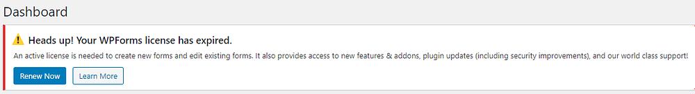 WPForms Renewal Notification