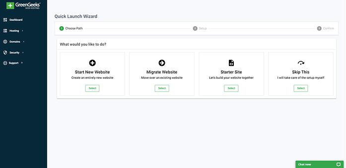 Step 4 - Choose To Start A Website