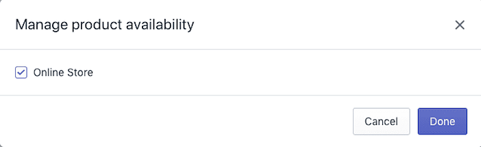 Manage Product Availability Shopify