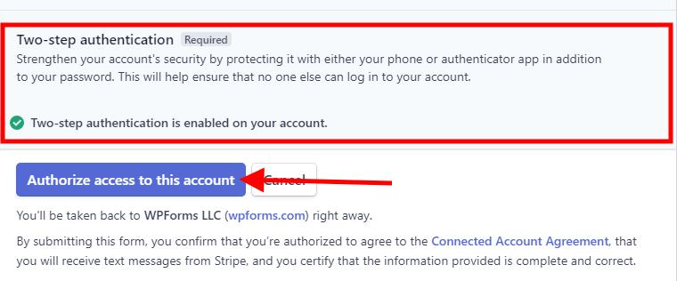 Authorize Stripe With WPForms