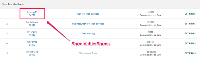 Formidable Forms Makes The Most Sales On ShareASale For Me