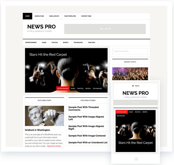 News Pro Genesis Theme