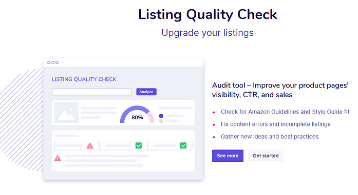 Sellzone Listing Quality Check