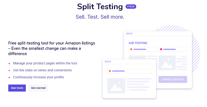 Sellzone Split Testing Feature