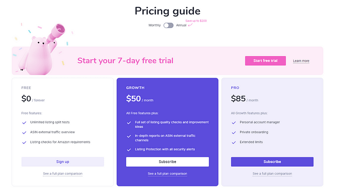 Sellzone Pricing Plans