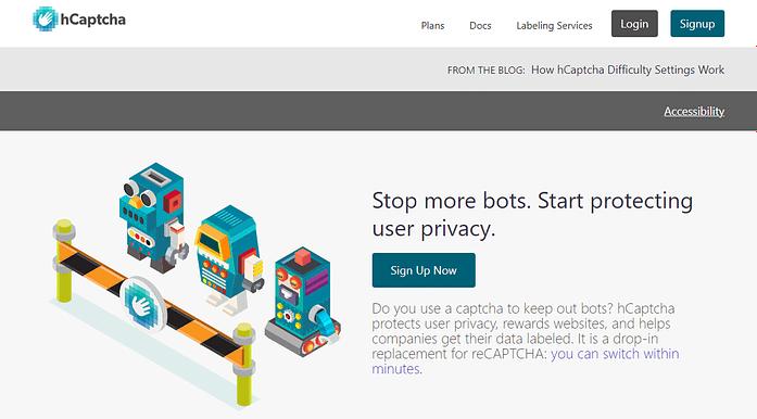 hCaptcha Spam & Bot Protection