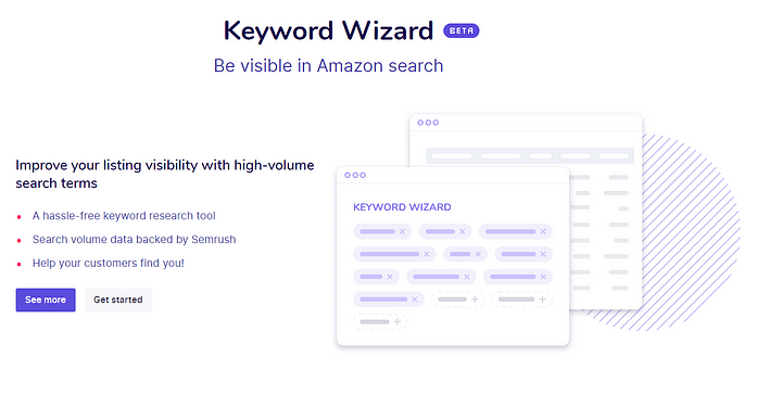 Sellzone Keyword Wizard Feature