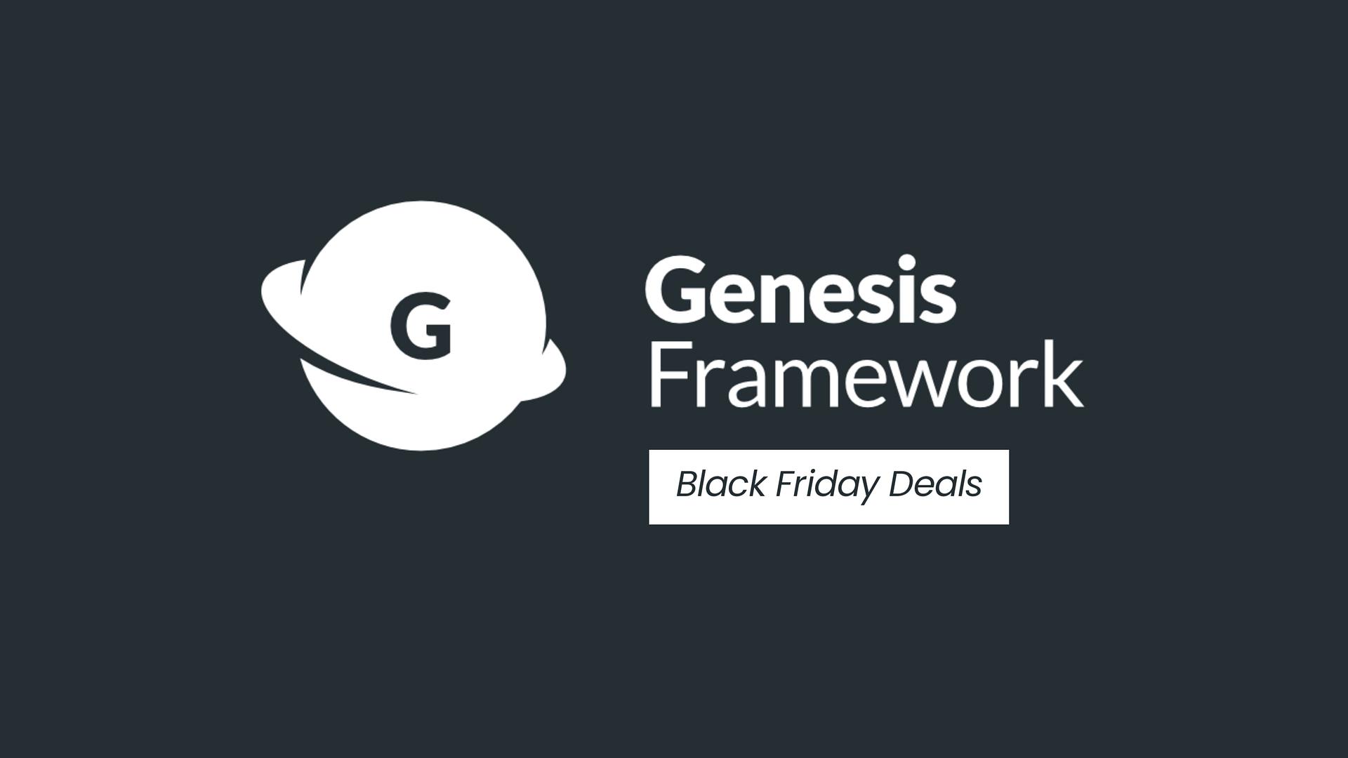 StudioPress Genesis Black Friday Deals