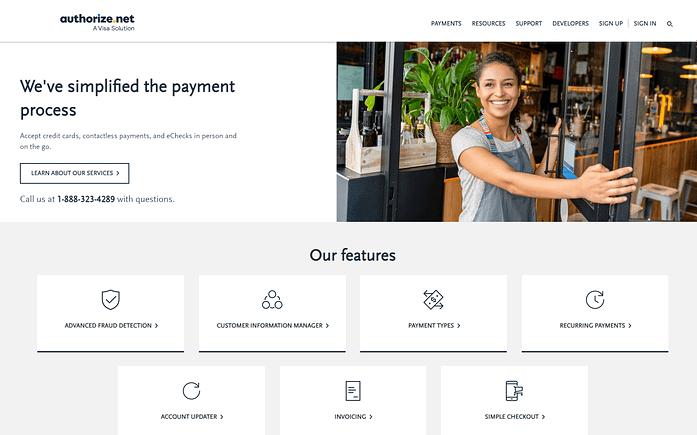 Authorize.Net Payment Solution