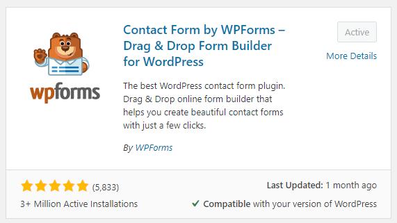 WPForms Review Rating