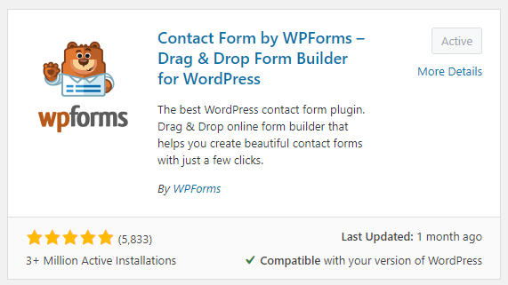 WPForms Review Rating