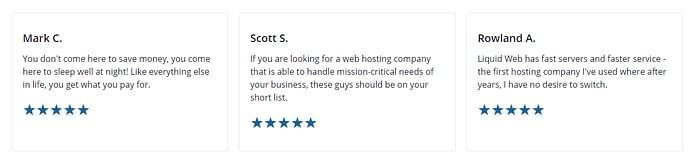 Reviews For Liquid Web Dedicated Servers