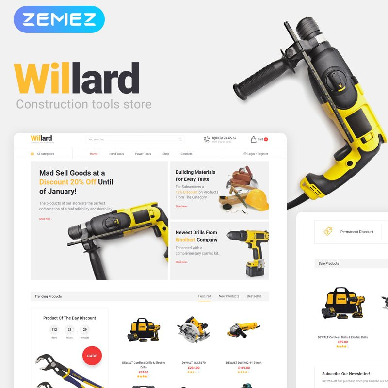 Instruments WooCommerce Theme