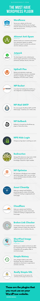 Must Have WordPress Infographics By BloggerSelf