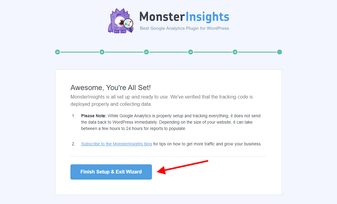 MonsterInsights Setup Wizard Page 5