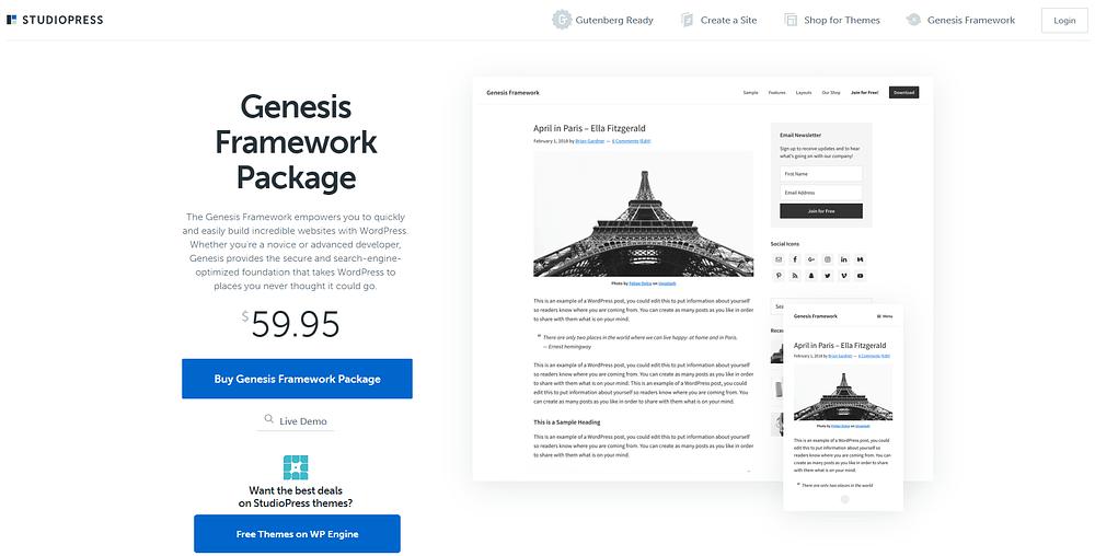 Genesis Framework Screenshot